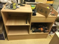 Brown wooden table/shelving with drawer  Toronto, M1R 1R7