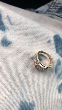 silver-colored ring with clear gemstones Winston-Salem, 27105