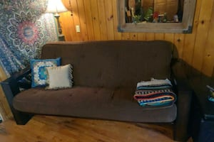 Now $300 solid wood Futon w/full size spring matress