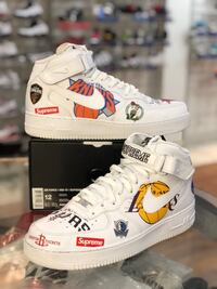 White Air Force 1s Supreme NBA size 12 Silver Spring, 20902