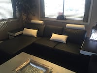 black leather sectional sofa Calgary, T3M 0Y3