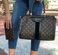 two black and brown leather Louis Vuitton bags London, WC2H