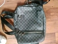 black and gray leather backpack Dallas, 75237