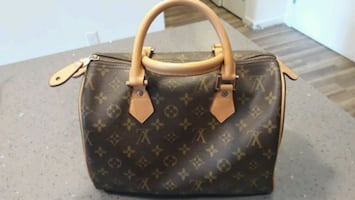 Leather Louis Vuitton like Speedy bag