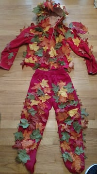 Halloween custom pile of leaves costume w/mask Flemington, 08822