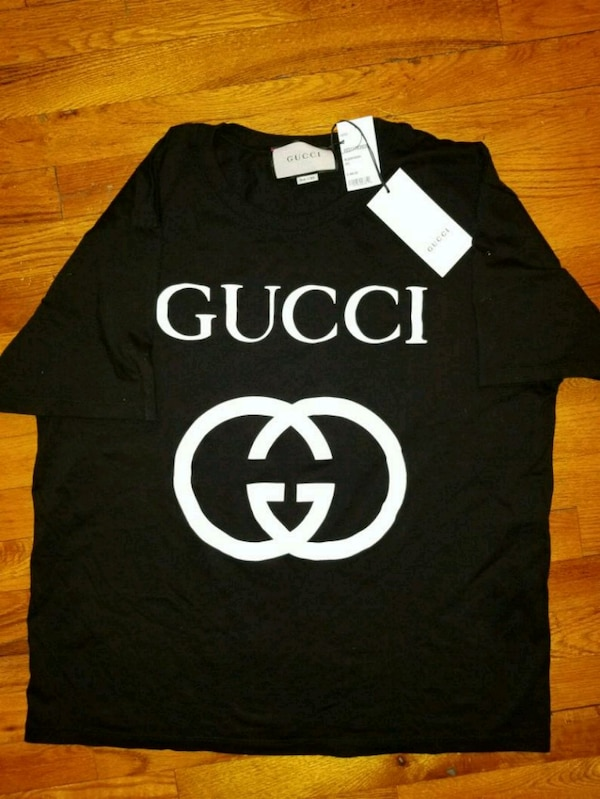 a1a64d41f0a4 Used Gucci B/W Oversize T-Shirt Interlocking G XXL for sale in ...