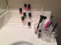 Nail polish and makeup organizer (items not included