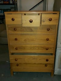 Wooden dresser.  8 drawers. 13 km