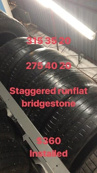 Staggered  [PHONE NUMBER HIDDEN] 0 20 bridgestone run flat