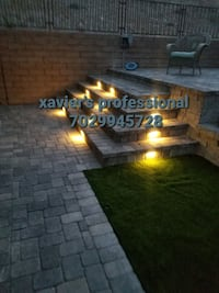 Pavers synthetic grass