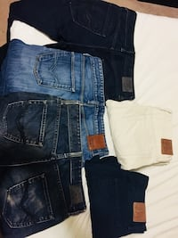 Assorted Jeans men. Size 30. 3 guess and 2 gap for only 50. Like new Calgary, T3H 1W9