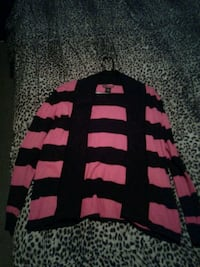 black and pink striped long-sleeved open cardigan Albuquerque, 87109