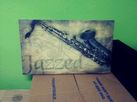 Jazzed wooden poster