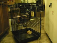 black and white pet cage Strathroy, N7G 1S3