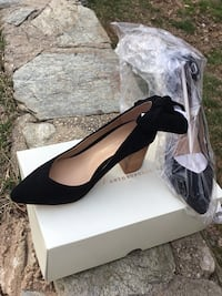 Black and white leather platform pumps Cheverly, 20785