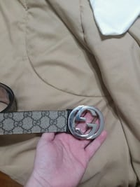 silver-colored Gucci buckle with blue leather belt Taunton, 02780