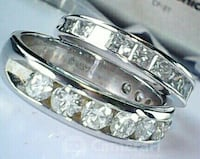 Beautiful Diamond and 14k white Gold Eternity Bands Reisterstown, 21136