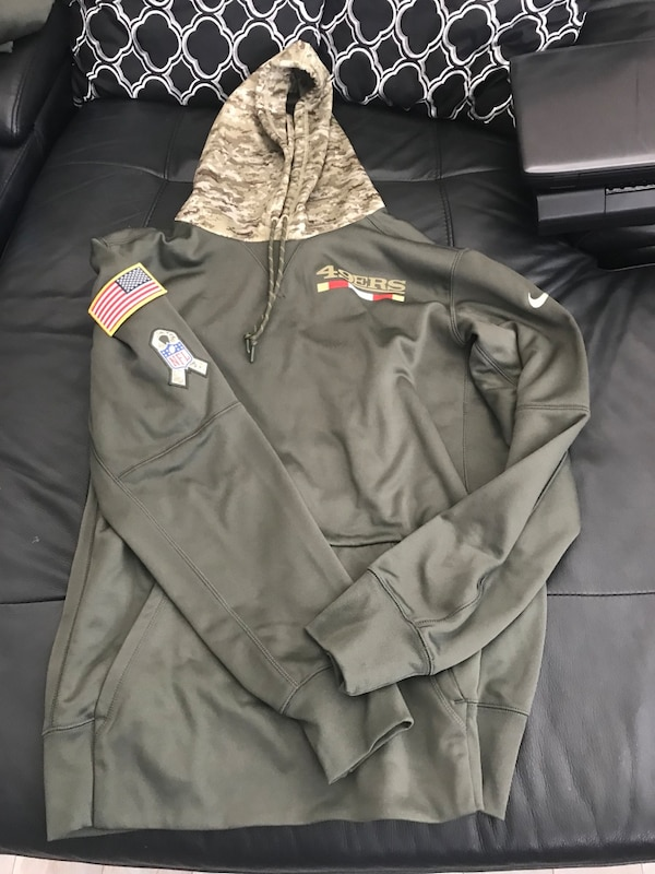 the best attitude 447a9 8bea5 New Nike Salute To Service 49ers And Raiders Hoodie!!!