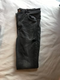 Mørkegrå highwaist denimbukser