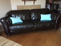 Brown leather 3-4 seater  sofa Laval, H7T 3C1