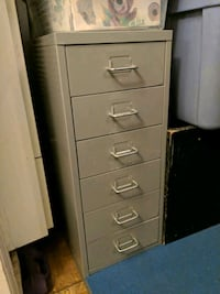 gray metal 6-drawer mini filing cabinet Oakland, 94609