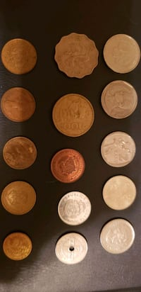 Set of 15 diff countries coin collection