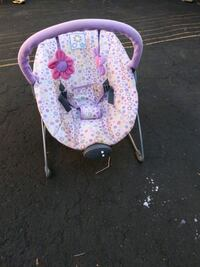 baby's pink and white floral bouncer Niagara Falls, L2E 6S5