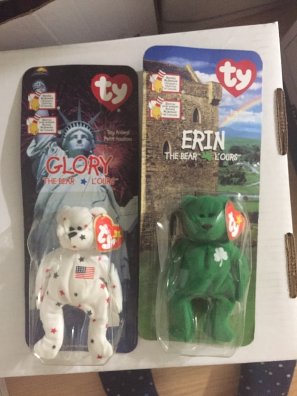 New in package McDonald's TY beanie bears. Maple and Brittania. These are both from 1999. 38ba95fa-35c6-411d-86cd-a8931429fdac