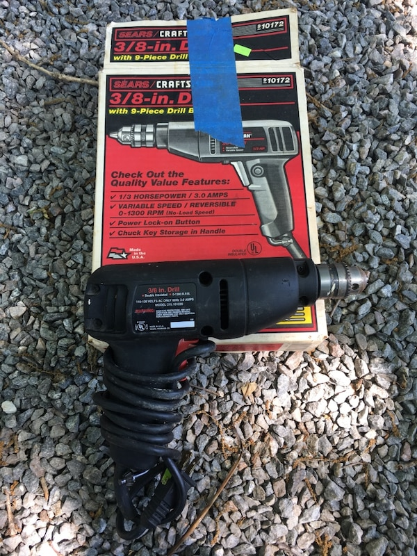 """Craftsman Drill 3/8"""" corded with Chuck"""