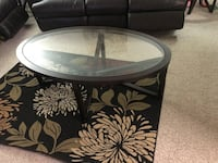 round black metal framed glass top coffee table Henrico, 23233