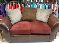 red fabric 2-seat sofa Visalia, 93277