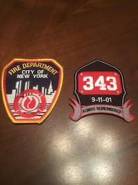New York Fire Department Patches, both for $10 North Richland Hills, 76182