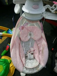 baby's pink and white cradle n swing Greensboro, 27406