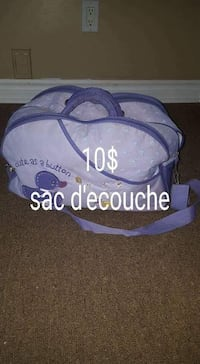 blue and white and purple floral print bag Saint-Eustache, J7R 5G3