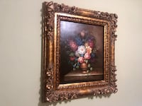 Vintage Flower Painting with Gold Floral Frame Germantown, 20874
