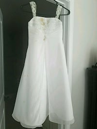 flower girl dress, needs cleaning