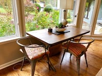 Reclaimed wood dining table with 2 dining chairs (retails $1,300) from San Francisco Charlotte, 28226