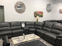 Power reclining sectional with usb  Elgin
