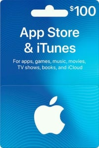 Itunes gift card (meet up purchase only) Toronto, M1W 3G1