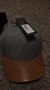 black and gray fitted cap Lititz, 17543