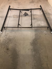 Steel bed frame. KING