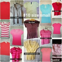 Women's size small tee-shirts  $10 for all Roy