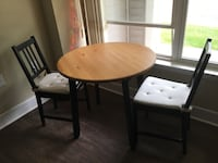 Dining room set ( round table, 2 chairs, 2 cushions) Alexandria