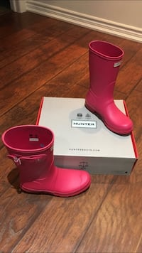 HUNTER AUTHENTIC PINK RAIN BOOTS NEW SIZE 8 Mississauga, L4Z