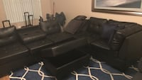 black leather 3-seat sofa Houston, 77057