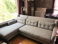 West Elm Crosby Sectional Sofa w/ Chaise Lounge - Excellent Condition (Gray Couch) Minneapolis, 55408