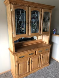 brown wooden cabinet with hutch Marion, 52302
