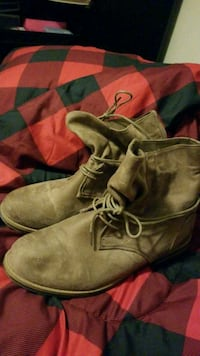 Woman Tan Ankle Boots Size 10 Maize, 67101