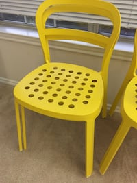 Four stackable sturdy stain resistant yellow stainless steel chair Cary, 27513