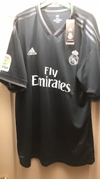 black and white Adidas Fly Emirates jersey shirt Vaughan, L6A 2S6